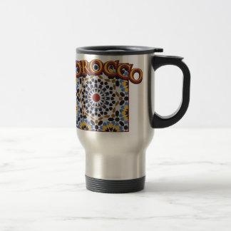 Morocco Tile Stainless Steel Travel Mug