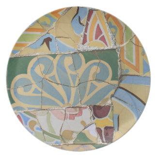 Mosaic decoration party plates