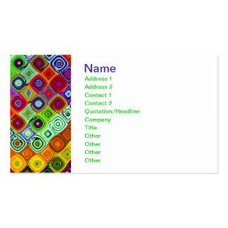 Mosaic Fine Fractal Art Pack Of Standard Business Cards
