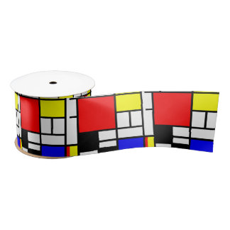 MOSAIC rectangles squares colored I + your ideas Satin Ribbon