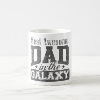 Most Awesome Dad In The Galaxy Basic White Mug