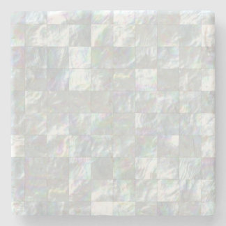 Mother Of Pearl Mosaic Stone Coaster