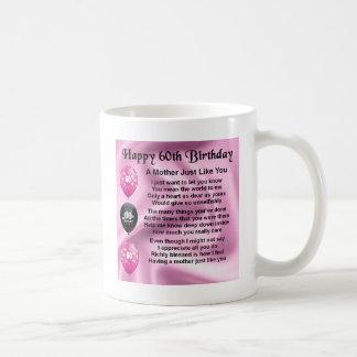 Mother Poem - 60th Birthday Basic White Mug
