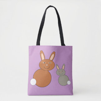 Mothers Day Bunnies Personalized Cross Body Bag Tote Bag