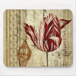 mother's day Country Floral Botanical Tulip Mouse Pad