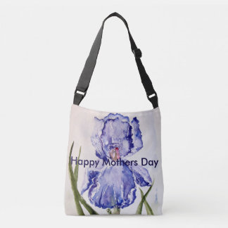 Mothers Day watercolor Iris Tote Bag