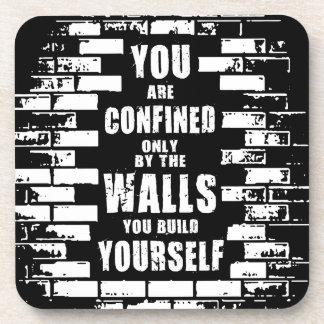 Motivational Words - Walls - Workout Motivational Coasters