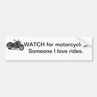 Motorcycle bumper sticker