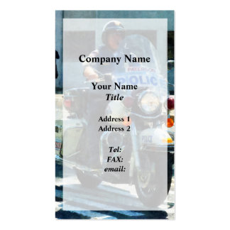 Motorcycle Cop Pack Of Standard Business Cards