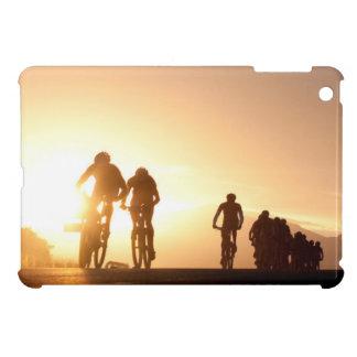 Mountain Bike Riders Make Their Way Over The Top iPad Mini Cover