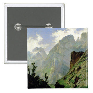 Mountains in Europe, 1876 15 Cm Square Badge