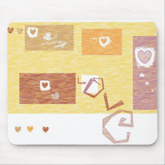 Mouse Pad with Heart Design