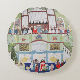 Mousehole Methodist Chapel Cornwall Round Cushion