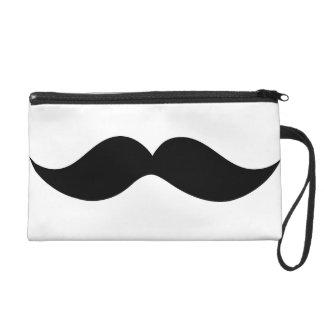 Moustache Bag Wristlet Clutches