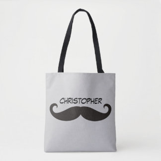 Moustache / Mustache / Schnurrbart + your ideas Tote Bag