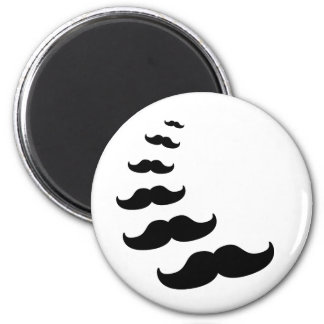 Moustaches 6 Cm Round Magnet