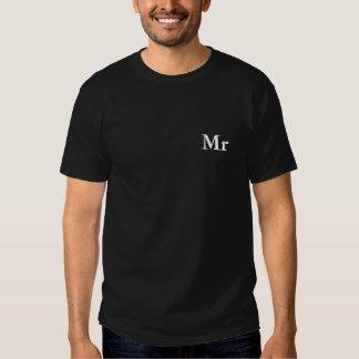 Mr and Mrs | elegant modern matching couple T-shirts