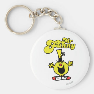 Mr. Funny Laughing Hysterically Basic Round Button Key Ring