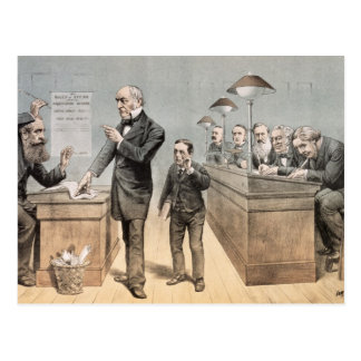 Mr Gladstone and his Clerks Postcard