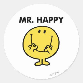 Mr. Happy | Giant Smiley Face Round Sticker