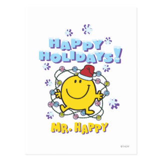 Mr. Happy   Happy Holidays Postcard