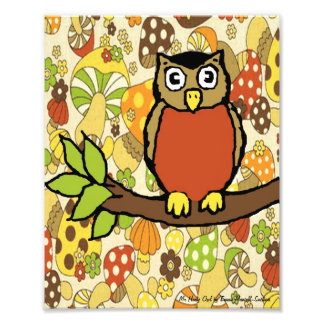 Mr Hooty Owl Baby Wall Print Art Photo