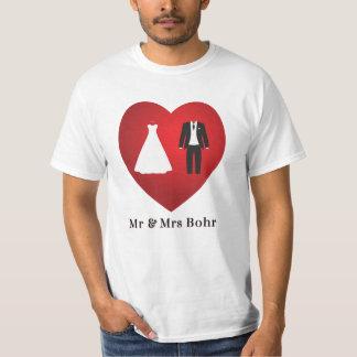 Mr & Mrs Bohr Wedding Marriage T-Shirt