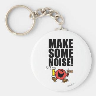 Mr. Noisy | Make Some Noise Basic Round Button Key Ring