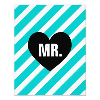 Mr. Retro Stripes Print Photo Print