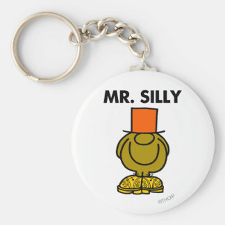 Mr. Silly | Hidden Eyes Basic Round Button Key Ring