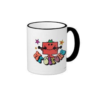 Mr. Strong   Colorful Lettering & Stars Ringer Mug