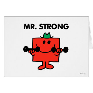 Mr. Strong | Lifting Weights Greeting Card