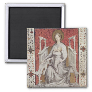 MS 11060-11061 The Virgin suckling the infant Jesu Square Magnet