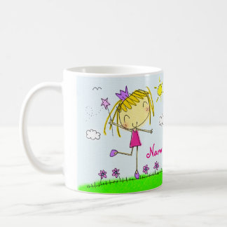 ♥ MUG ♥ Cute pink purple blonde Princess + name