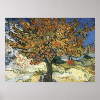 Mulberry Tree van Gogh Post-Impressionist Poster