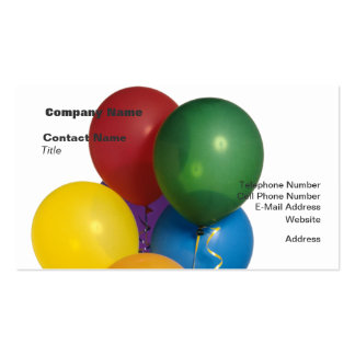 Multi Coloured Party Balloons Pack Of Standard Business Cards