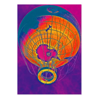 Multi-coloured World Globe Balloon, Purple Sky Pack Of Chubby Business Cards