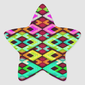 Multicolored Modern Abstract Background Star Sticker