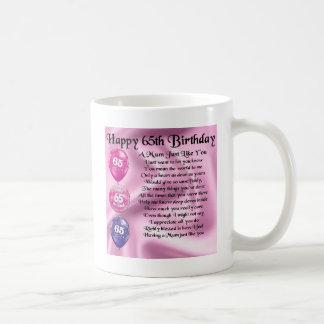 Mum Poem  -  65th Birthday Basic White Mug