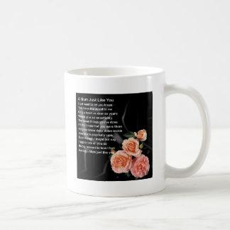 Mum Poem - Flowers on Black Silk Basic White Mug
