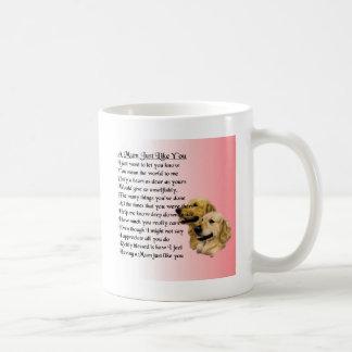 Mum Poem  -  Golden Retriever Design Basic White Mug