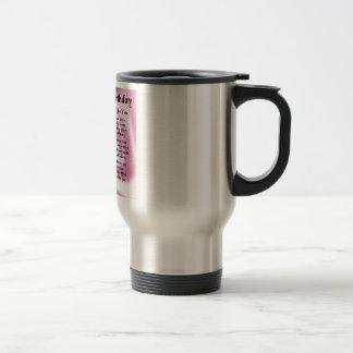 Mum Poem  -  Happy Birthday Stainless Steel Travel Mug