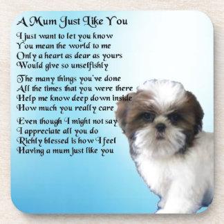 Mum Poem - Shih Tzu Design Drink Coasters