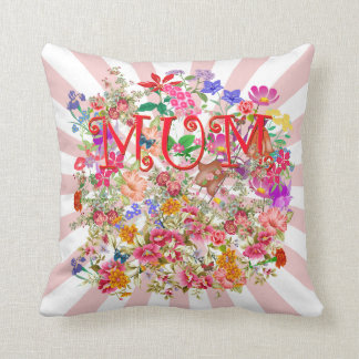 Mum, with flowers,butterflies cushions