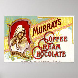 Murrays Coffee Cream Chocolate Poster