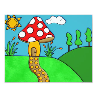 Mushroom 11 Cm X 14 Cm Invitation Card