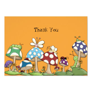 Mushroom Garden Friends Notecard 13 Cm X 18 Cm Invitation Card