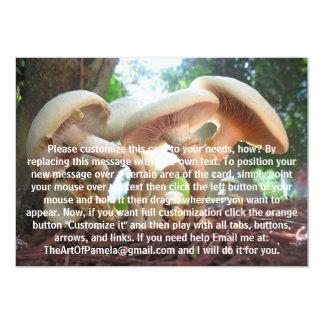 Mushrooms Dancing 13 Cm X 18 Cm Invitation Card