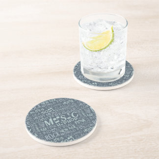 Music Genres Word Collage coaster