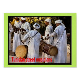 Music, instruments, Tunisian Street musicians Poster